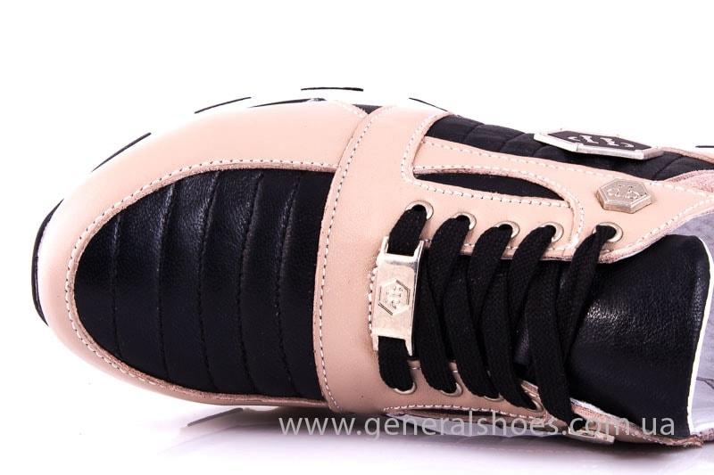 Женские кожаные кроссовки Fit pink фото 5