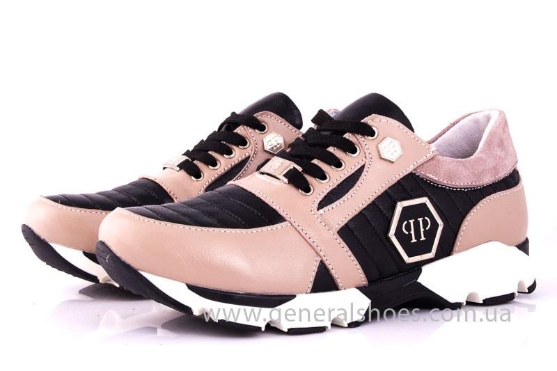 Женские кожаные кроссовки Fit pink фото 6
