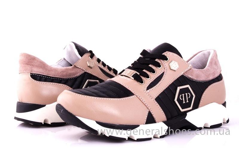 Женские кожаные кроссовки Fit pink фото 7