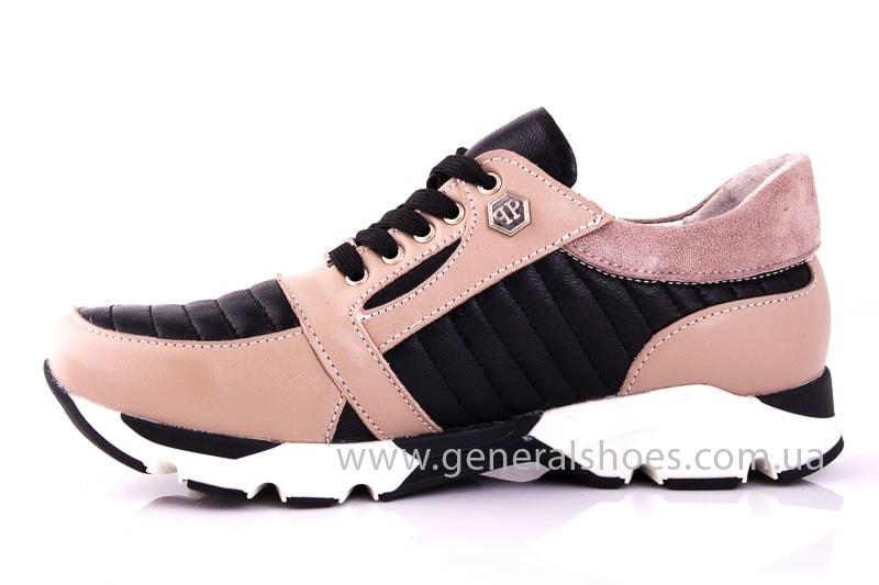 Женские кожаные кроссовки Fit pink фото 8