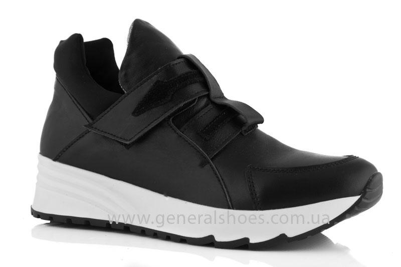 Женские кожаные кроссовки GL 2 черные фото 1