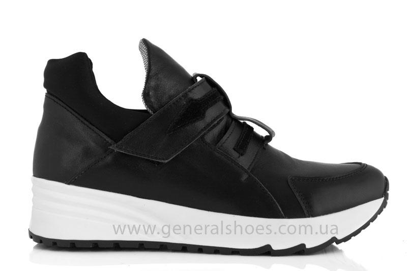 Женские кожаные кроссовки GL 2 черные фото 2