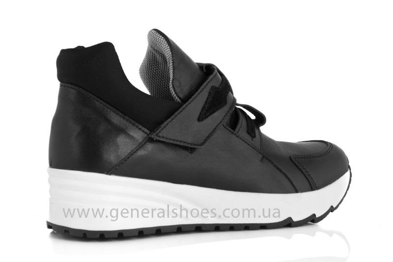 Женские кожаные кроссовки GL 2 черные фото 3