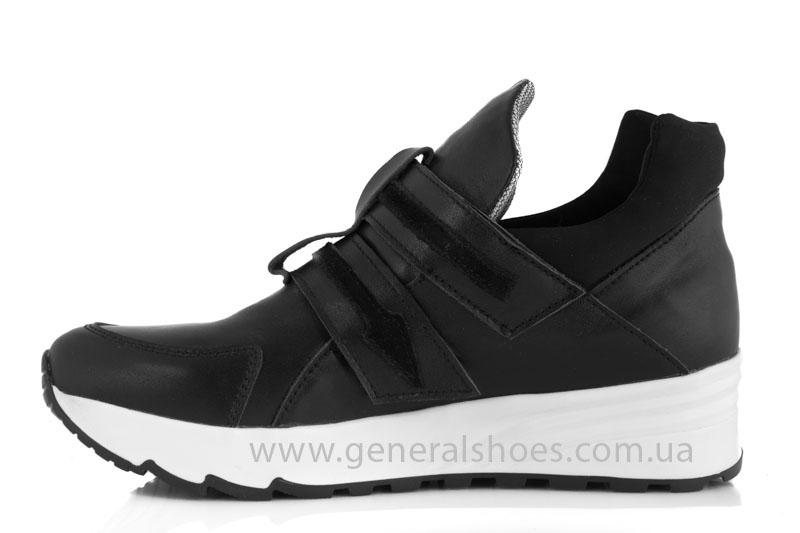 Женские кожаные кроссовки GL 2 черные фото 4