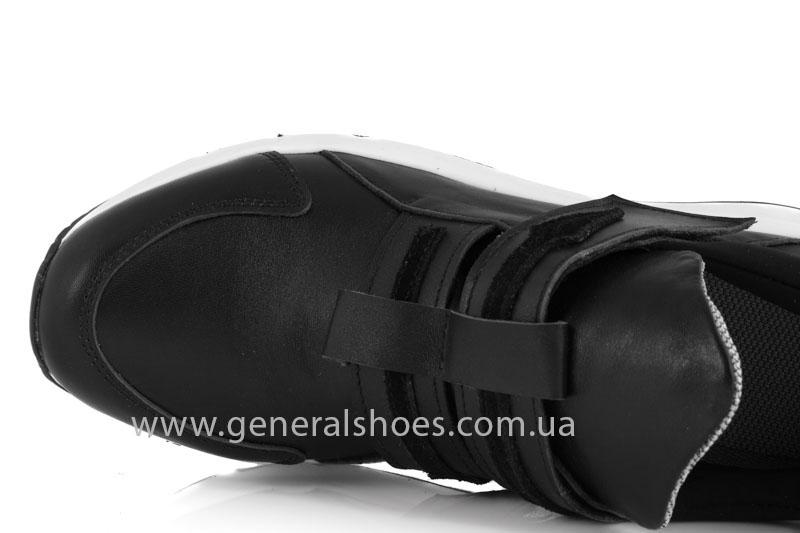 Женские кожаные кроссовки GL 2 черные фото 5