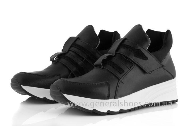 Женские кожаные кроссовки GL 2 черные фото 6