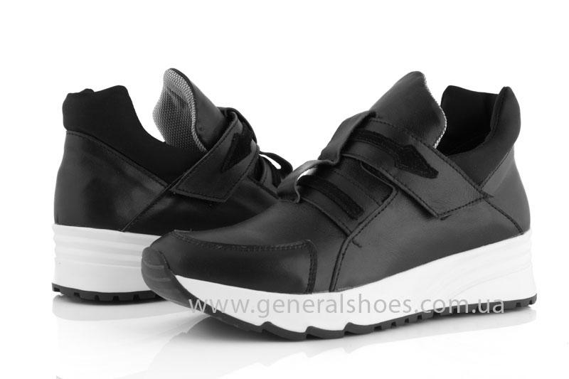 Женские кожаные кроссовки GL 2 черные фото 7