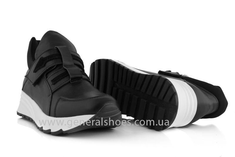 Женские кожаные кроссовки GL 2 черные фото 8