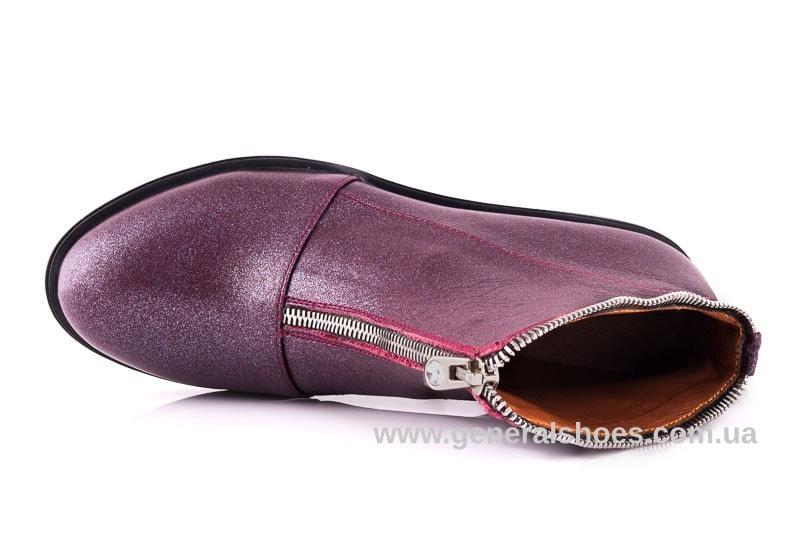 Женские кожаные полуботинки 2029 К бордо фото 4