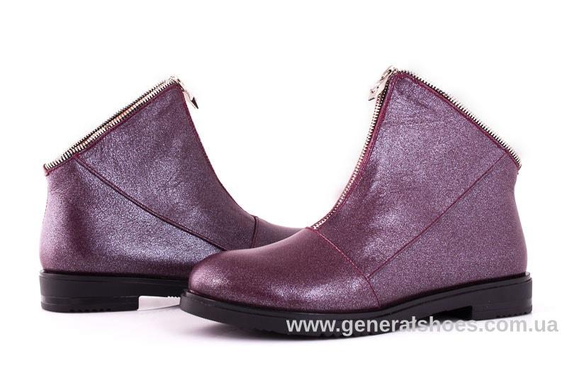 Женские кожаные полуботинки 2029 К бордо фото 7