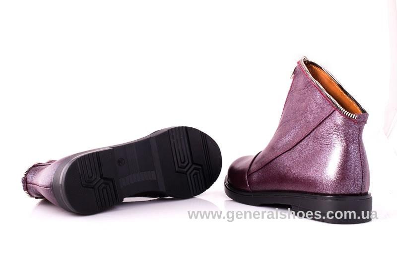 Женские кожаные полуботинки 2029 К бордо фото 8