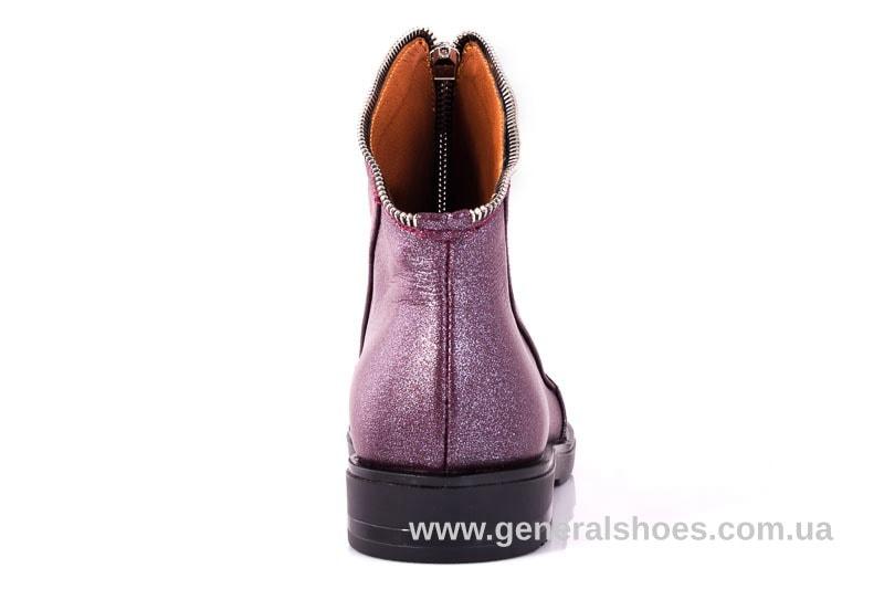 Женские кожаные полуботинки 2029 К бордо фото 9