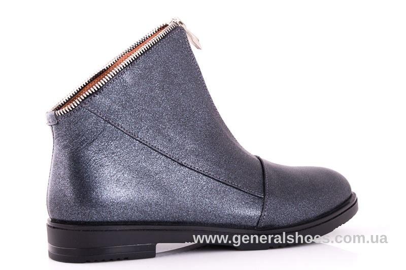 Женские кожаные полуботинки 2029 К серый фото 3