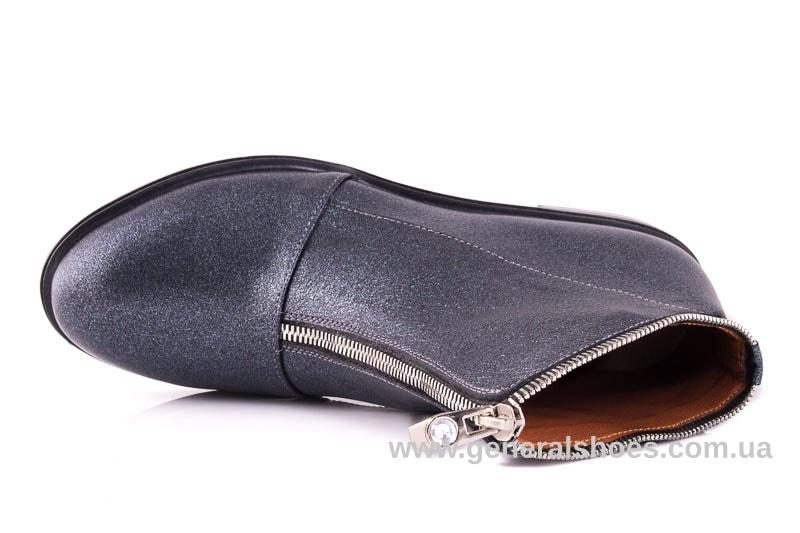 Женские кожаные полуботинки 2029 К серый фото 4