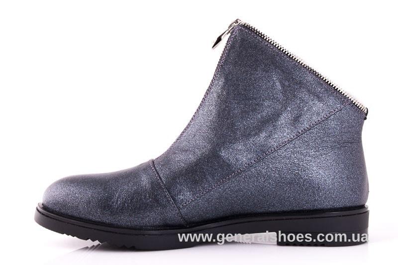 Женские кожаные полуботинки 2029 К серый фото 5
