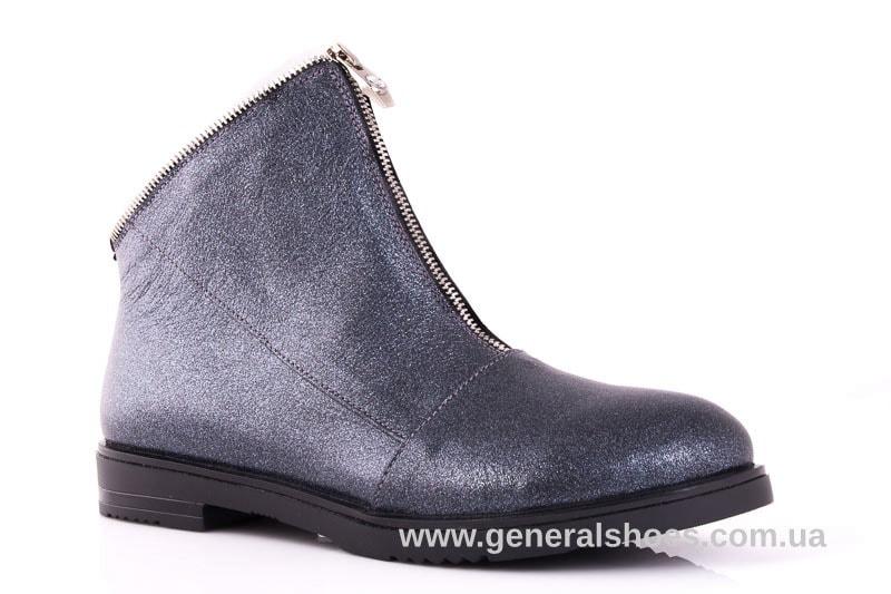 Женские кожаные полуботинки 2029 К серый фото 1