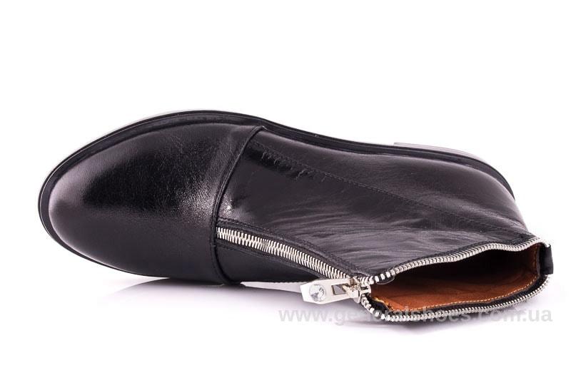 Женские кожаные полуботинки 2029 Р черный. фото 4