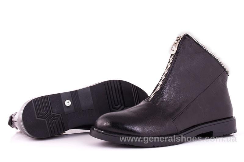 Женские кожаные полуботинки 2029 Р черный. фото 8