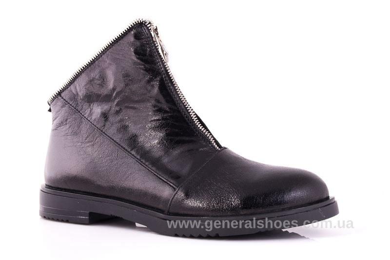 Женские кожаные полуботинки 2029 Р черный. фото 1