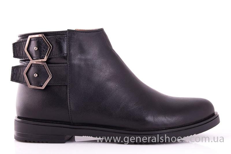 Женские кожаные полуботинки 2032 L черный фото 2