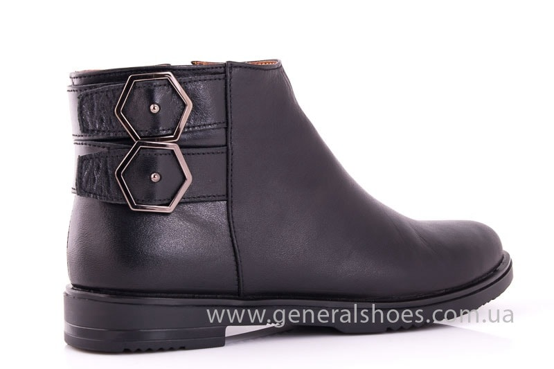 Женские кожаные полуботинки 2032 L черный фото 3