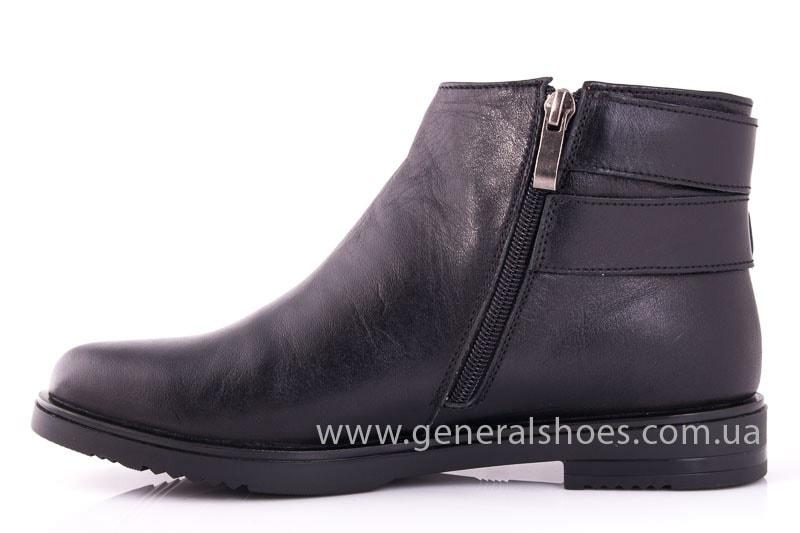 Женские кожаные полуботинки 2032 L черный фото 5