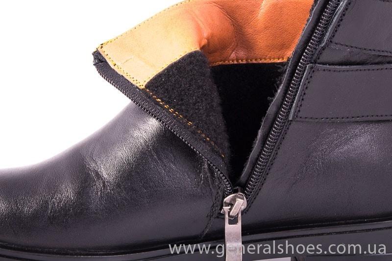 Женские кожаные полуботинки 2032 L черный фото 6