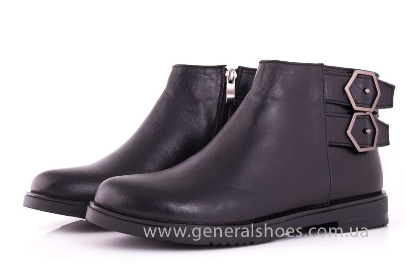 Женские кожаные полуботинки 2032 L черный фото 7