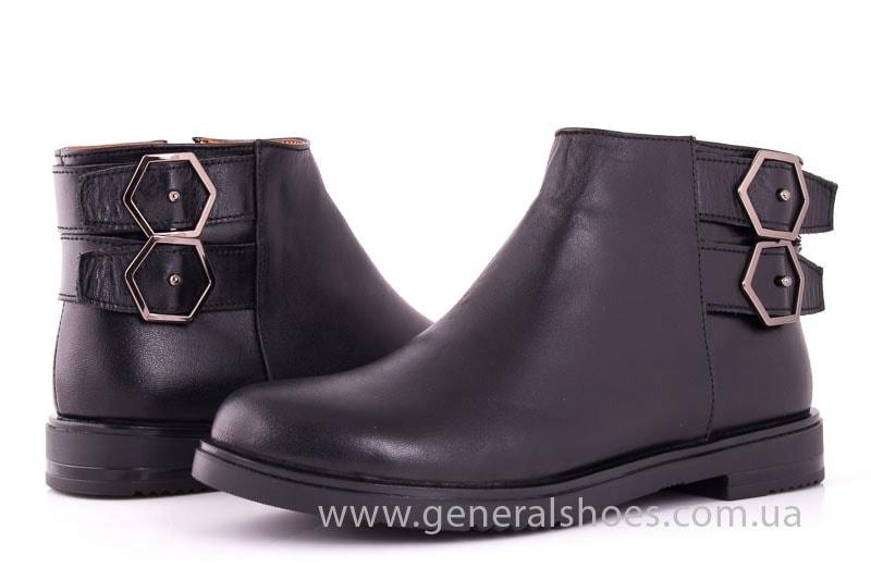 Женские кожаные полуботинки 2032 L черный фото 8