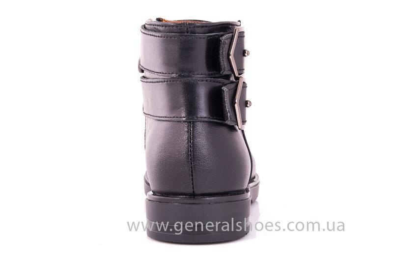 Женские кожаные полуботинки 2032 L черный фото 9
