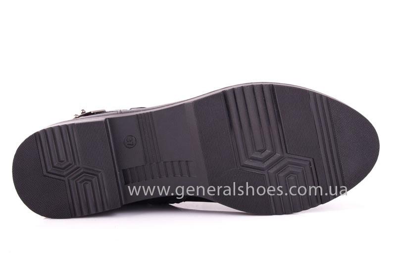 Женские кожаные полуботинки 2032 L черный фото 10