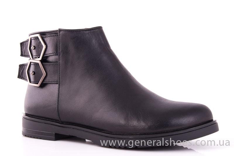 Женские кожаные полуботинки 2032 L черный фото 1