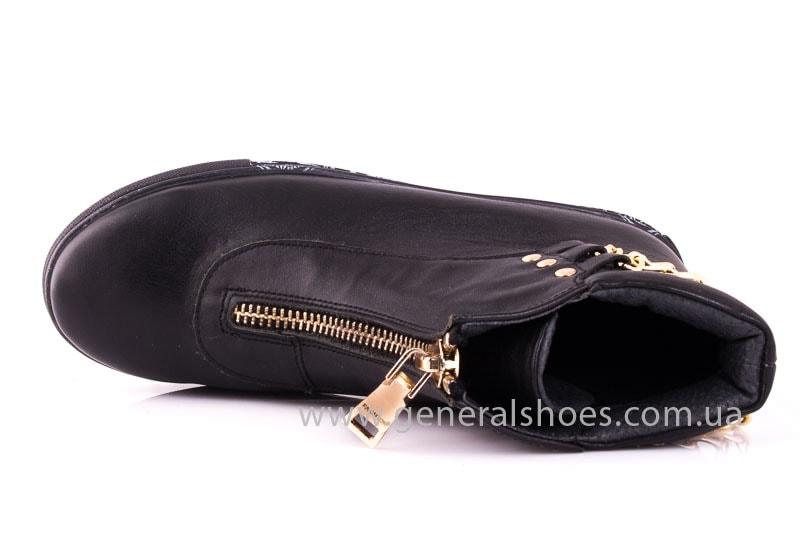 Женские кожаные полуботинки Gold blk фото 4