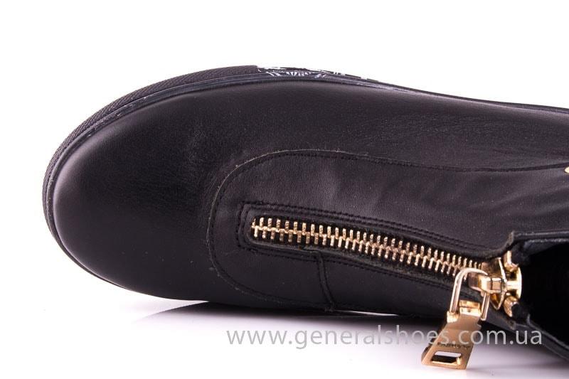 Женские кожаные полуботинки Gold blk фото 5