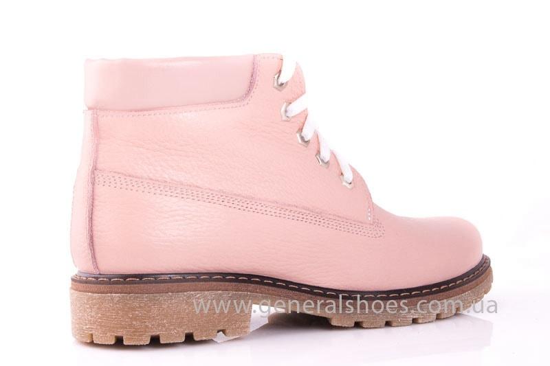 Женские кожаные полуботинки Pink фото 3
