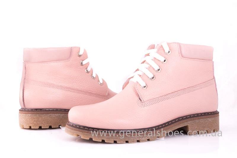 Женские кожаные полуботинки Pink фото 7