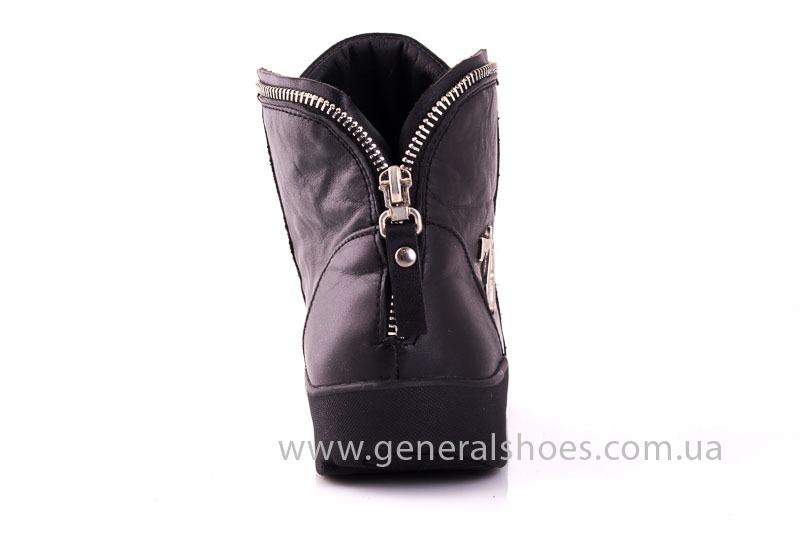 Женские кожаные полуботинки Plus blk фото 8