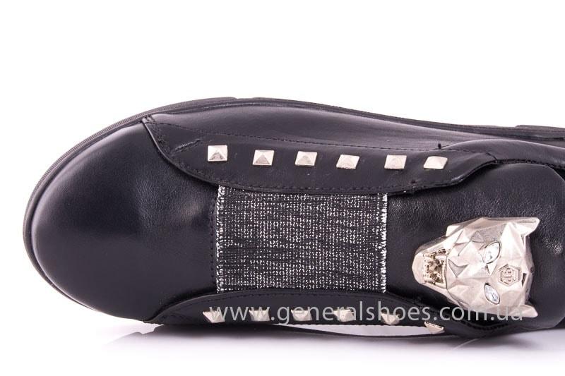 Женские кожаные слипоны Trend blk фото 5