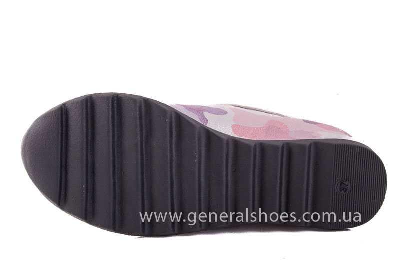 Женские кожаные сникерсы КМ 1 фото 10