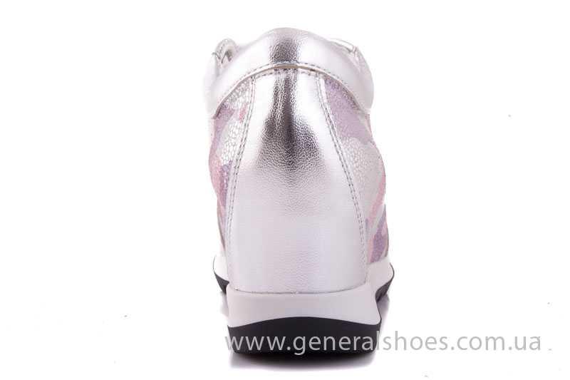 Женские кожаные сникерсы КМ 1 фото 9
