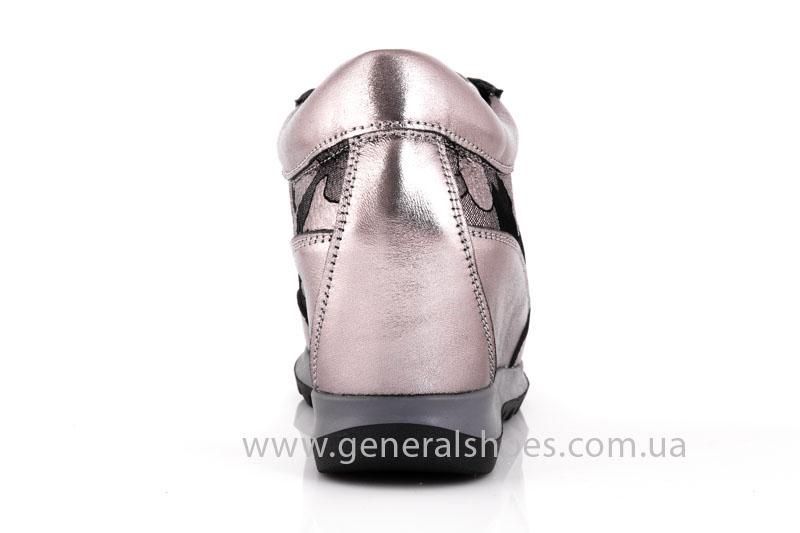 Женские кожаные сникерсы КМ 6 фото 4