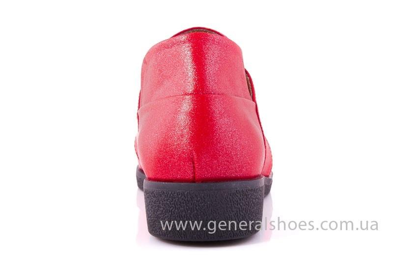 Женские кожаные туфли 6102 К красный фото 10
