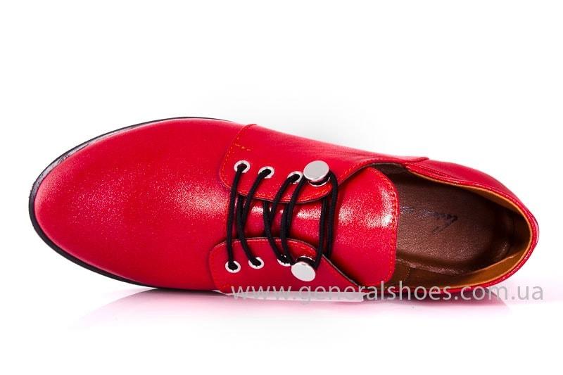Женские кожаные туфли 6102 К красный фото
