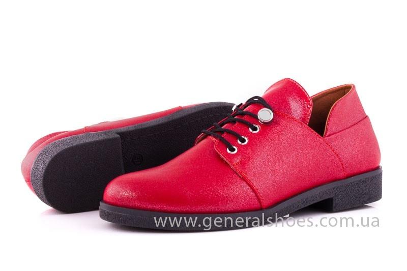Женские кожаные туфли 6102 К красный фото 8