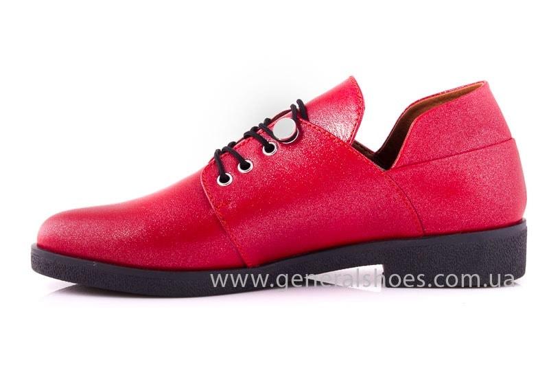 Женские кожаные туфли 6102 К красный фото 9