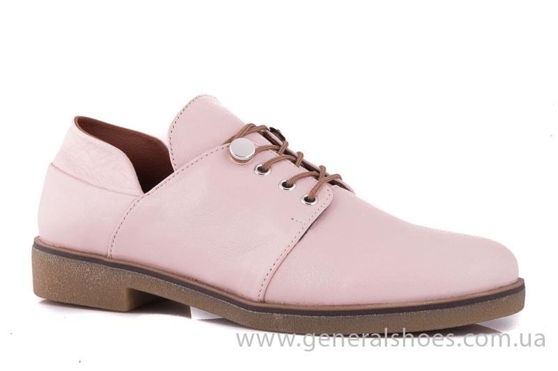 Женские кожаные туфли 6102 K пудра фото 1