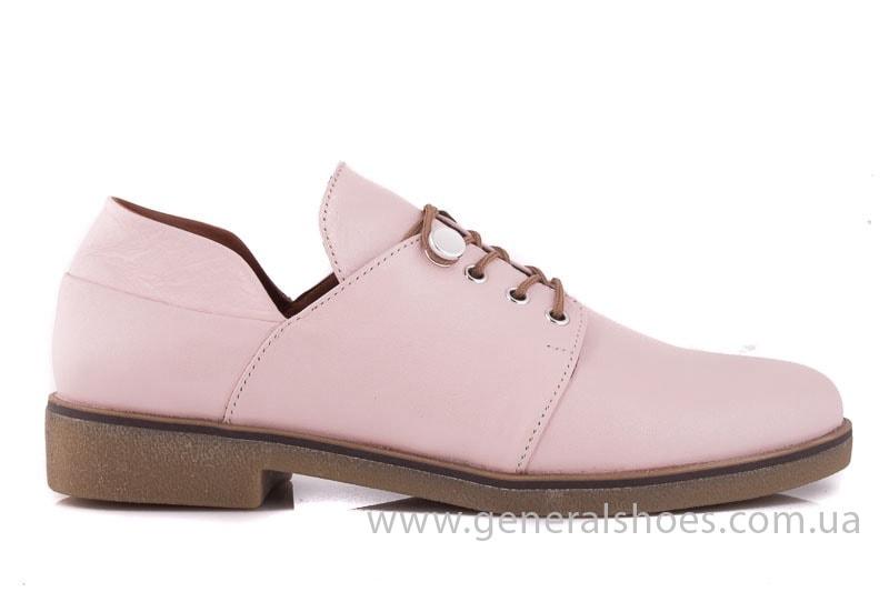 Женские кожаные туфли 6102 K пудра фото 2