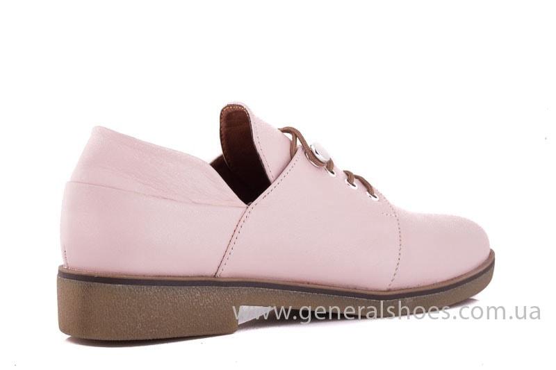 Женские кожаные туфли 6102 K пудра фото 3