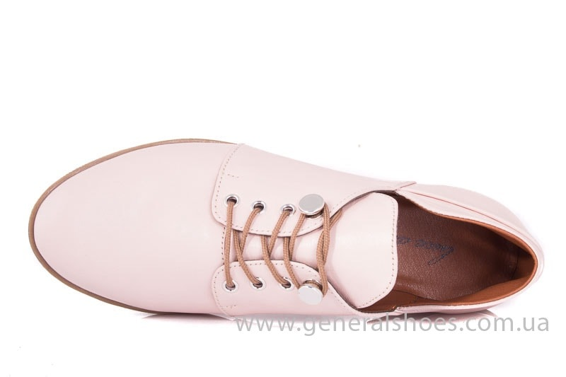Женские кожаные туфли 6102 K пудра фото 4