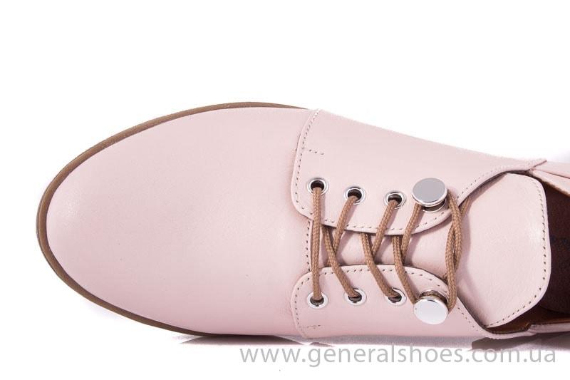 Женские кожаные туфли 6102 K пудра фото 5